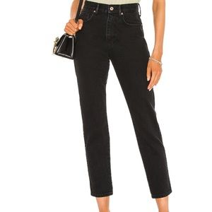 Free People Stovepipe Jeans Black Sz 27